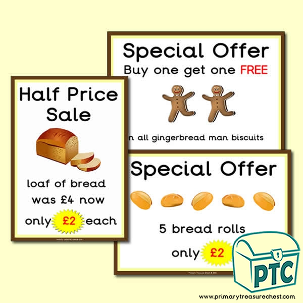 Bakery Shop Special Offers Posters