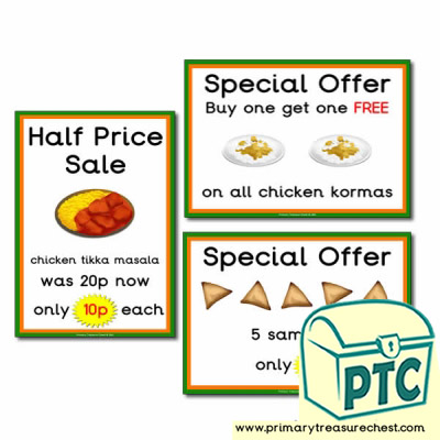 Indian Restaurant Role Play Special Offers (1-20p)