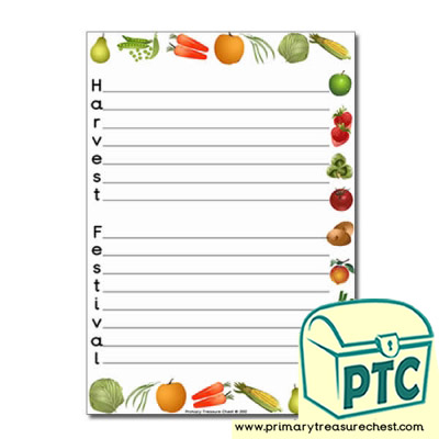 Fruit & Vegetables Themed 'Harvest Festival' Acrostic Poem Sheet