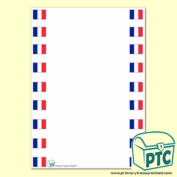 French Flag Page Border/Writing Frame (no lines)
