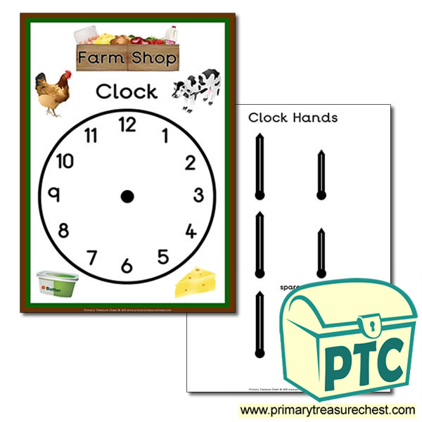 Farm Shop Role Play Clock