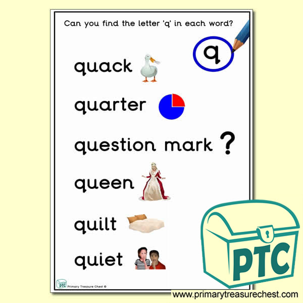 Find the Letter 'q' Activity Sheet