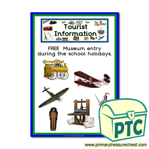 Museum Tourist Information Themed Poster