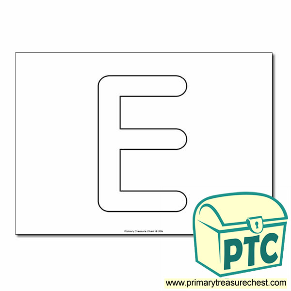 'E' Bubble Letter Formation Activity - Letters and Sounds ... The Letter E In Bubble Letters