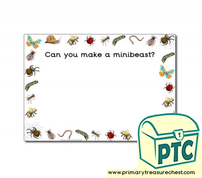 Minibeasts Themed Topic Playdough Mats