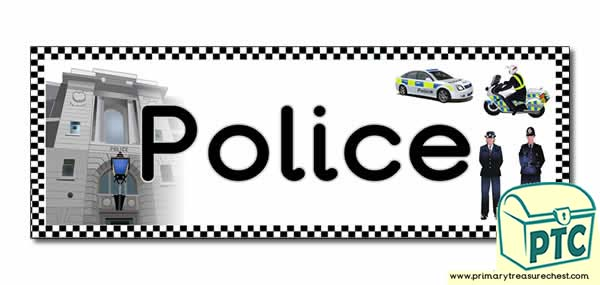 'Police' Display Heading/ Classroom Banner