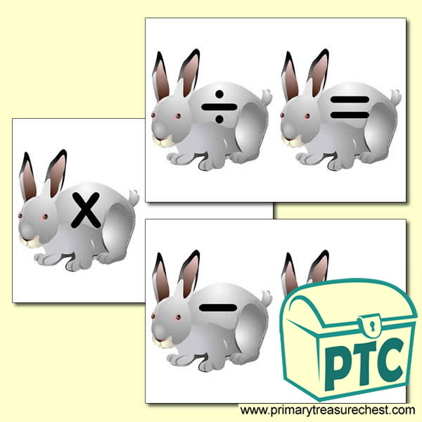 Rabbit Number Line Maths Symbols