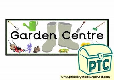 Garden Centre Display Heading /Classroom Banner