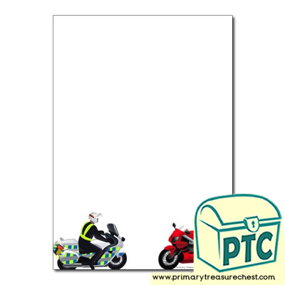 'Motorbike' themed Page Borders/Writing Frames (no lines)