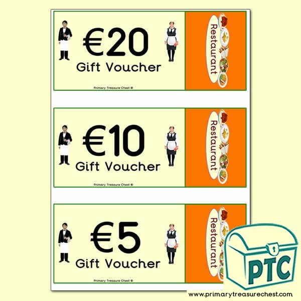 Restaurant Role Play Vouchers