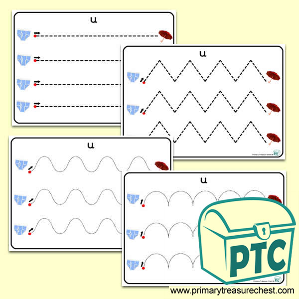 'Uu' Themed Pre-Writing Patterns Activity Sheets