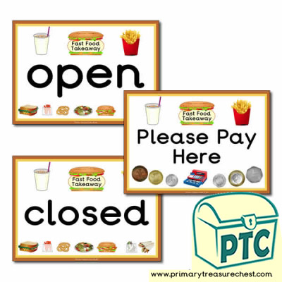 Fast Food Takeaway Signs