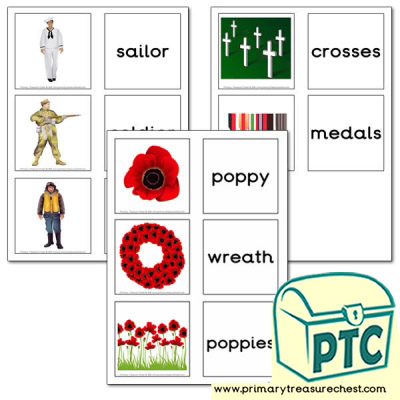 Remembrance Day Matching Cards