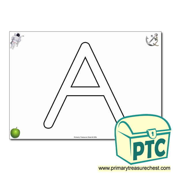 'A ' Uppercase Bubble Letter A4 poster with high quality realistic images