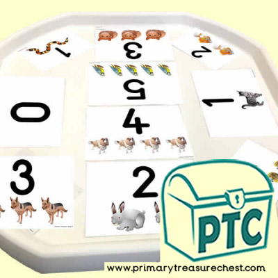 Pets Themed Number Tuff Tray Cards