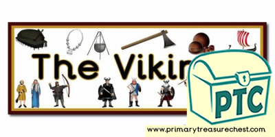 'The Vikings' Display Heading/ Classroom Banner