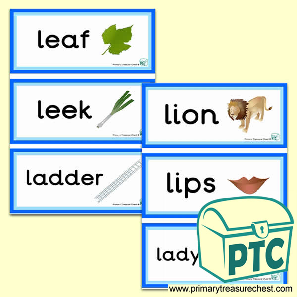 Letter 'l'  Themed Flashcards