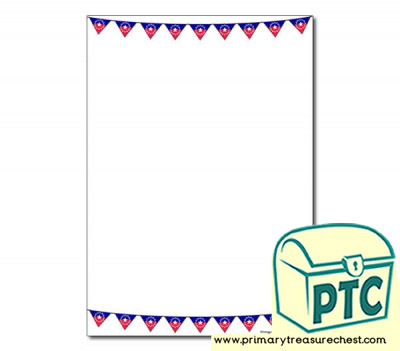 Juneteenth Bunting Themed Page Border/Writing Frame (no lines)