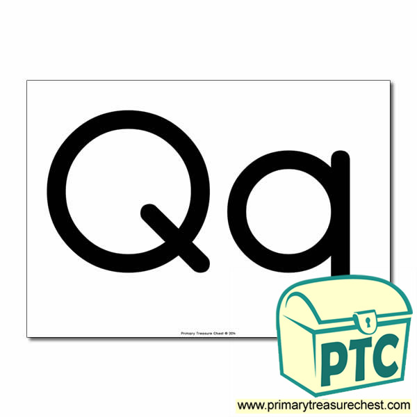 'Qq' Upper and Lowercase Letters A4 poster (No Images)