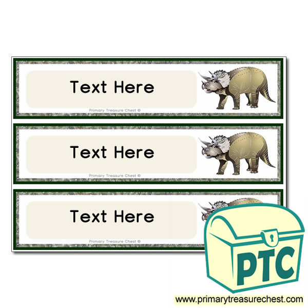Triceratops Dinosaur Themed Pupil Drawer Labels (Large)