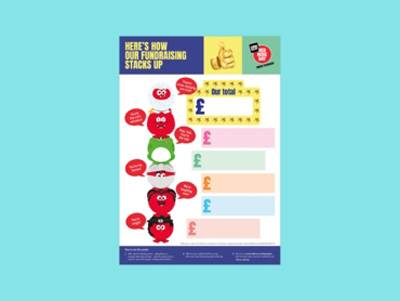 Red Nose Day Totaliser Poster