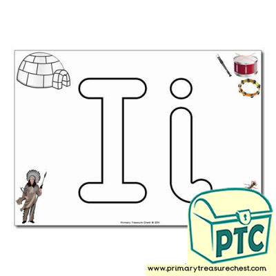 'Ii' Upper and Lowercase Bubble Letters A4 Poster, containing high quality, realistic images