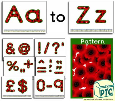 Poppy Themed Display Lettering