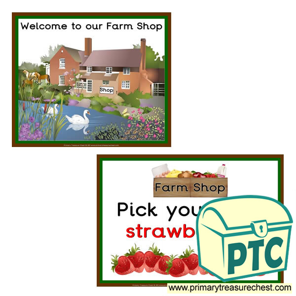 Farm Shop themed signs