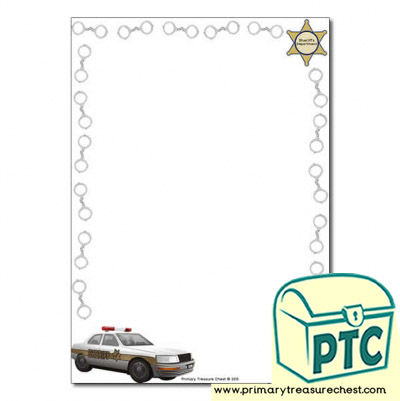 Sheriff Themed Page Border/Writing Frame (no lines)