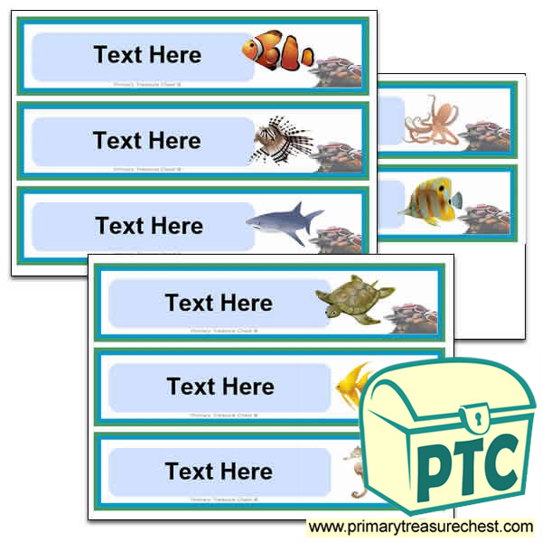 Under the Sea Themed Pupil Drawer Labels (Large)