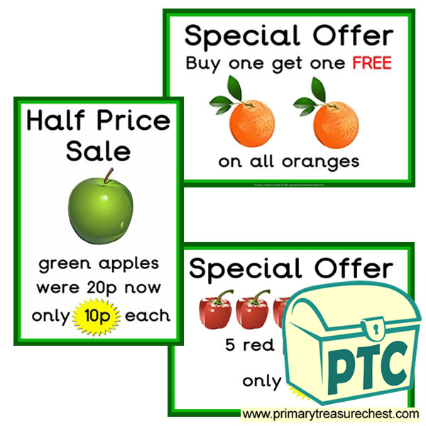 Greengrocers Role Play Special Offers (1-20p)