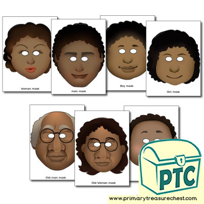 Black Family Role Play Masks