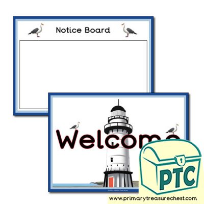 """<span class=""""highlight"""">Lighthouse</span> Themed Notice Board and Welcome Signs&#160;..."""