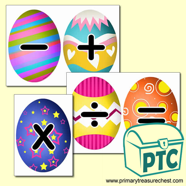 Easter Themed Math Symbol Cards