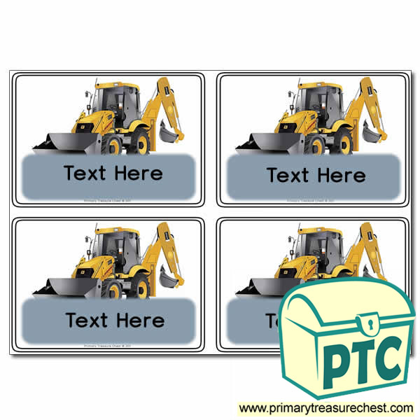 Digger Themed Registration Name Cards