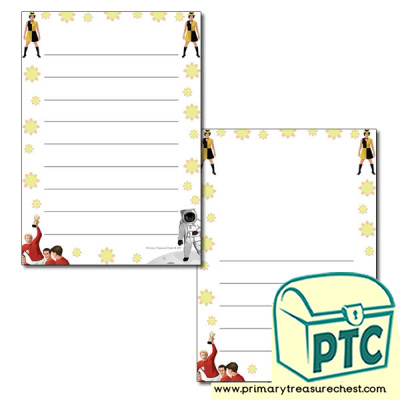 1960s Themed Page Border/Writing Frame (wide lines)