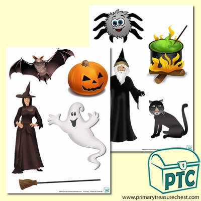 Halloween Storyboard / Cut & Stick / Going on a Hunt Images