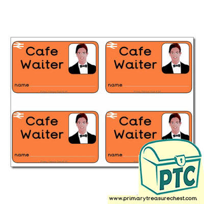 Role Play Train Station Cafe Waiter ID Badges