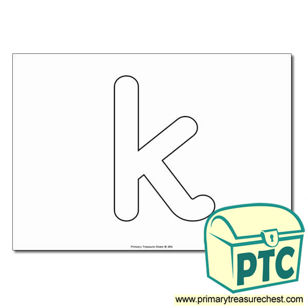 'k' Lowercase Bubble Letter A4 Poster - No Images