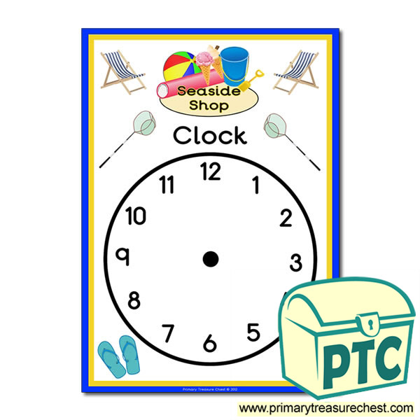Seaside Shop Role Play Clock