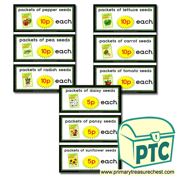 Role Play Garden Centre seeds Prices (1-20p)