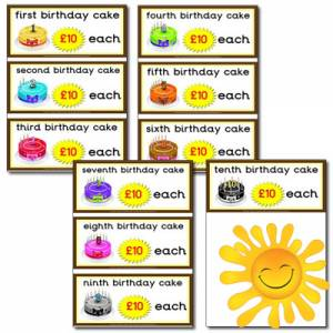 Marvelous Role Play Cake Shop Birthday Cake Prices 21P To 99 Primary Funny Birthday Cards Online Aeocydamsfinfo
