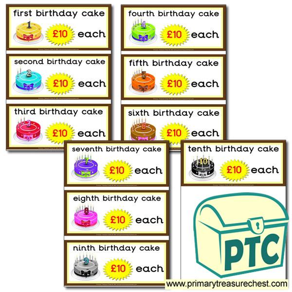 Tremendous Role Play Cake Shop Birthday Cake Prices 21P To 99 Primary Birthday Cards Printable Opercafe Filternl