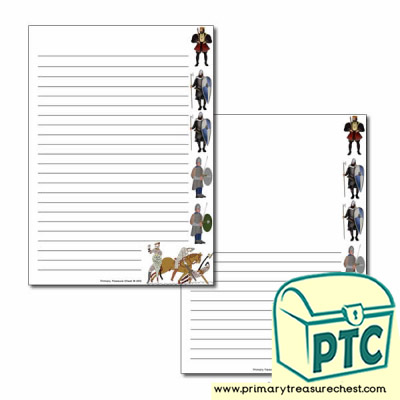 William the Conqueror Page Border/Writing Frame (narrow lines)