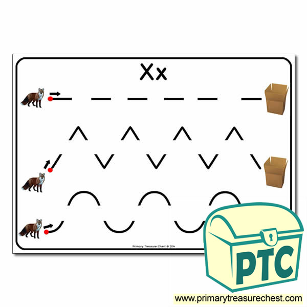 'Xx' Themed Pre-Writing Patterns Activity Sheet