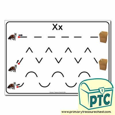 xx themed pre writing patterns activity sheet