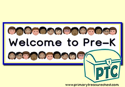 'Welcome to Pre-K' Classroom Banner / Display Heading