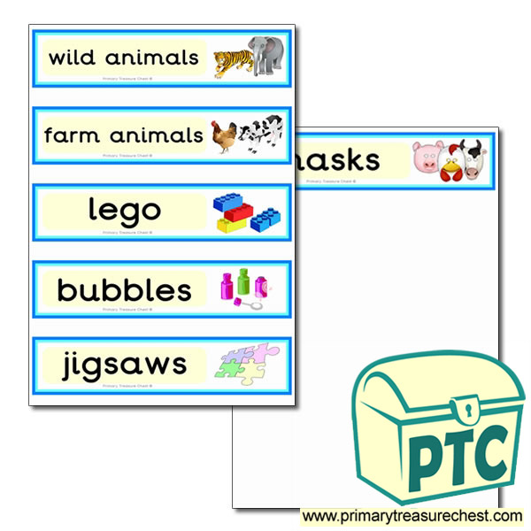 Classroom draw labels with toy images