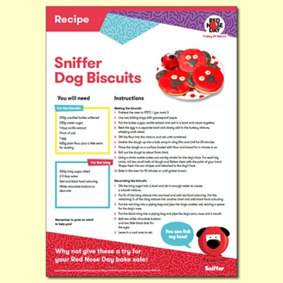 Sniffer Dog Biscuits Recipe For Red Nose Day