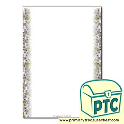 Cherry Blossom Page Border - No Lines